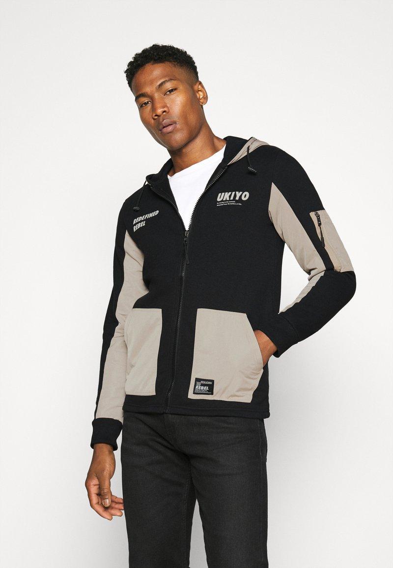 Redefined Rebel - RODNEY SWEAT - veste en sweat zippée - black