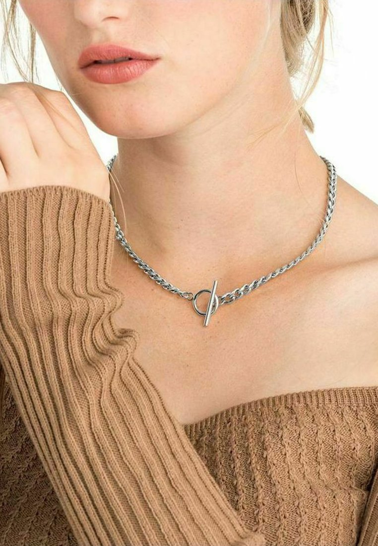 NOELANI - T-BAR CHAIN - Necklace - silber