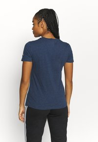 adidas Performance - T-shirts print - crname/white - 2