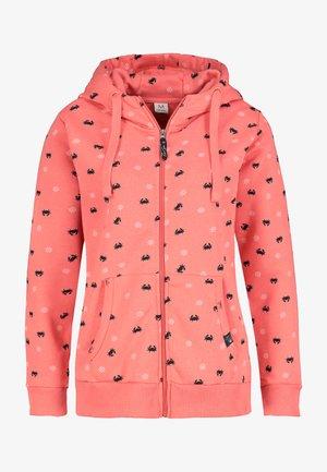 Zip-up sweatshirt - light red