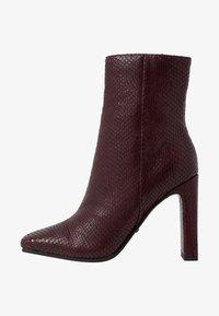 Topshop - HALIA SQUARE TOE - High heeled ankle boots - burgundy - 1