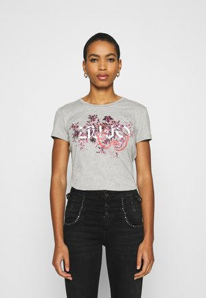 MODA - T-shirt print - mottled light grey