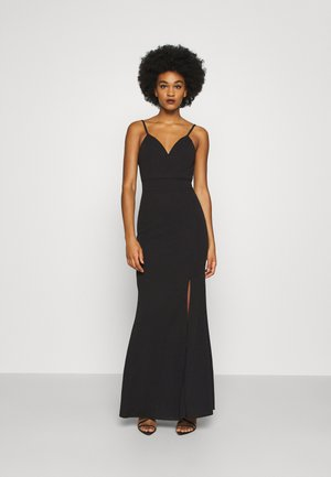 ANNALISE HIGH SPLIT MAXI DRESS - Iltapuku - black
