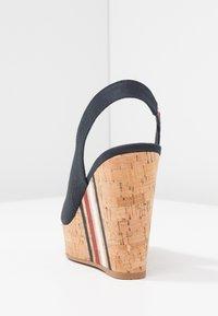 Tommy Hilfiger - SLING BACK WEDGE STRIPES - Korolliset sandaalit - blue - 5