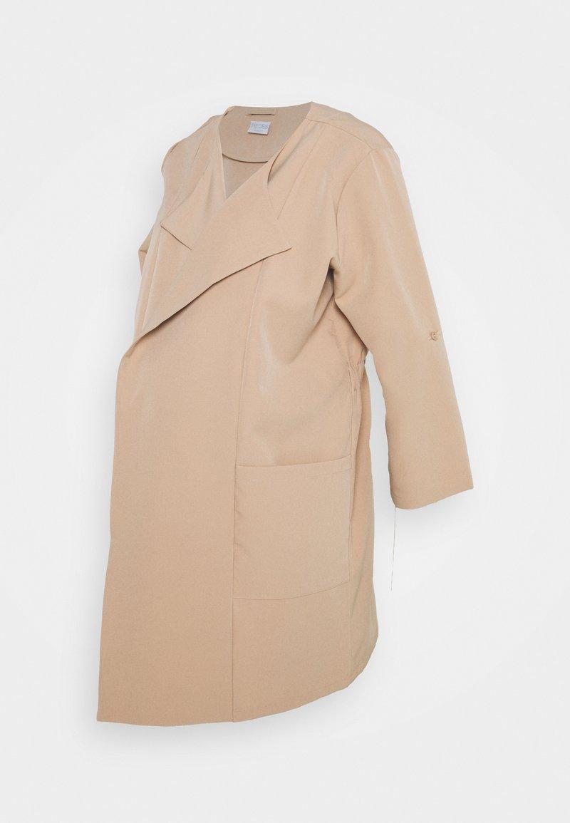 Pieces Maternity - PCMPAIGE COATIGAN - Short coat - warm taupe