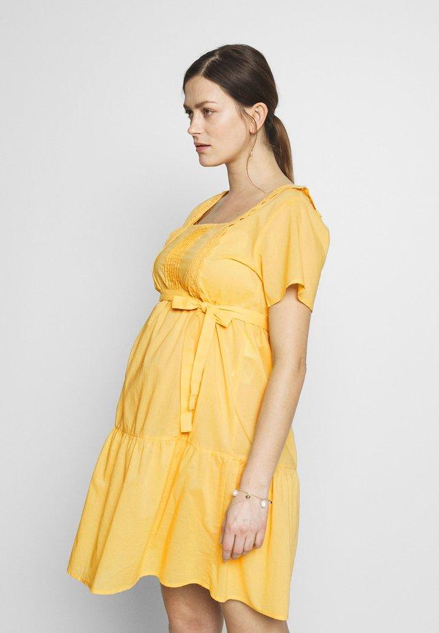 MLSOLANGE WOVEN SHORT DRESS - Vestito di maglina - cream gold