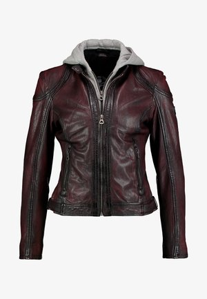 ANGY - Leather jacket - ox red