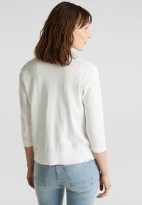 Esprit - OFFENER - Cardigan - off white - 2
