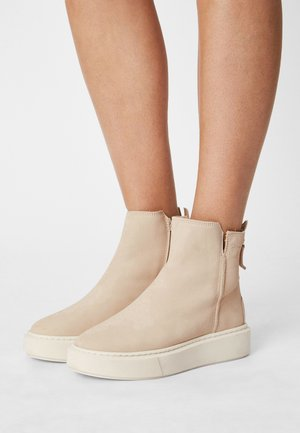 Platform ankle boots - antelope