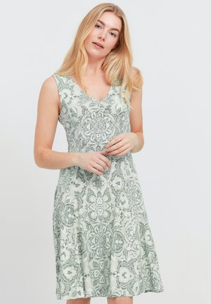 FRANSA - Jersey dress - aqua foam mix