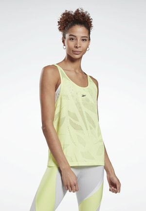 PERFORATED TANK TOP - Top - yellow