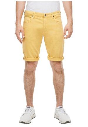 BERMUDA - Denim shorts - yellow