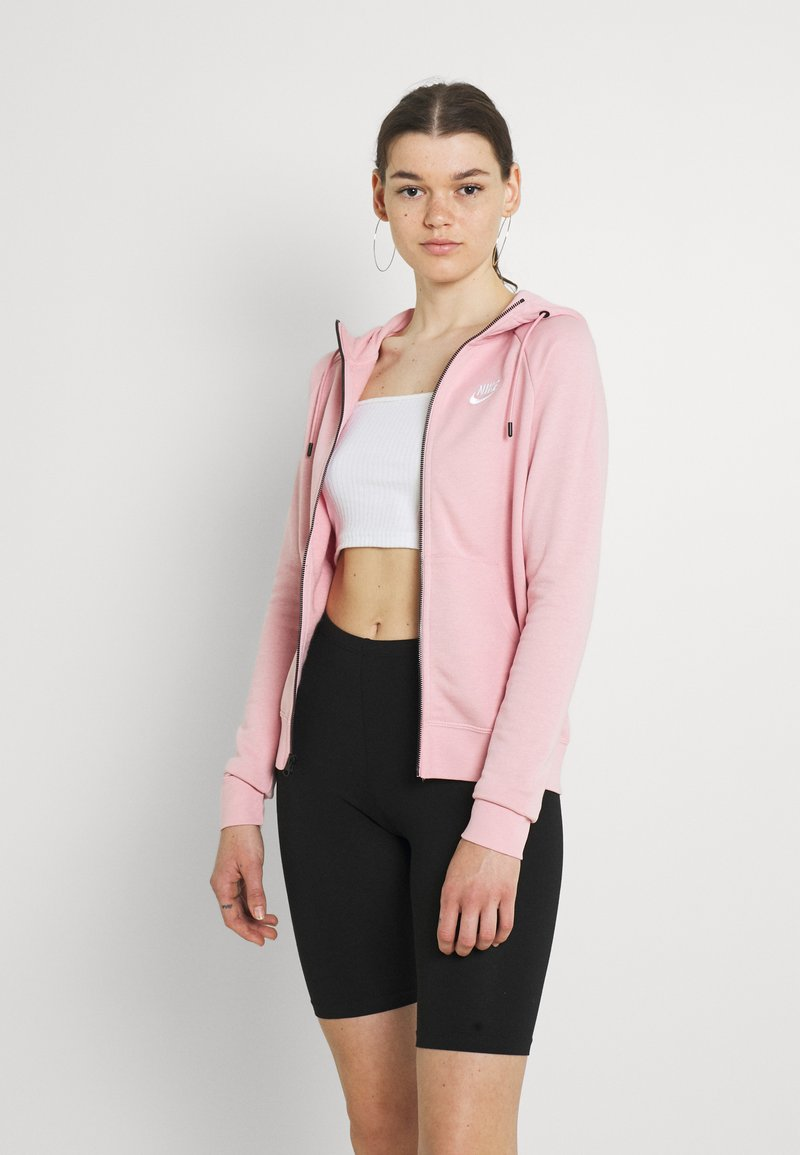 Nike Sportswear - HOODIE - Zip-up sweatshirt - pink glaze/white