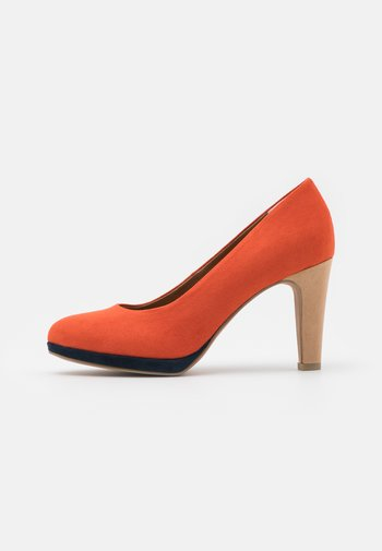 COURT SHOE - High heels - terracotta