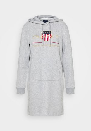ARCHIVE SHIELD HOODIE DRESS - Day dress - grey melange