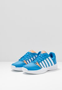 K-SWISS - COURT SMASH CARPET - Zapatillas de tenis para moqueta sintética - strong blue/neon citron - 3