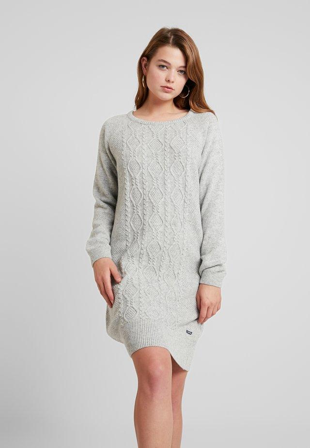ANNET DRESS - Sukienka dzianinowa - grey melange