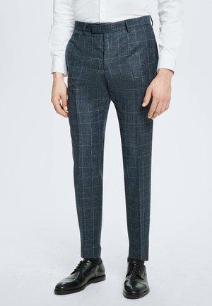 ANZUG KYND - Trousers - dunkelblau kariert