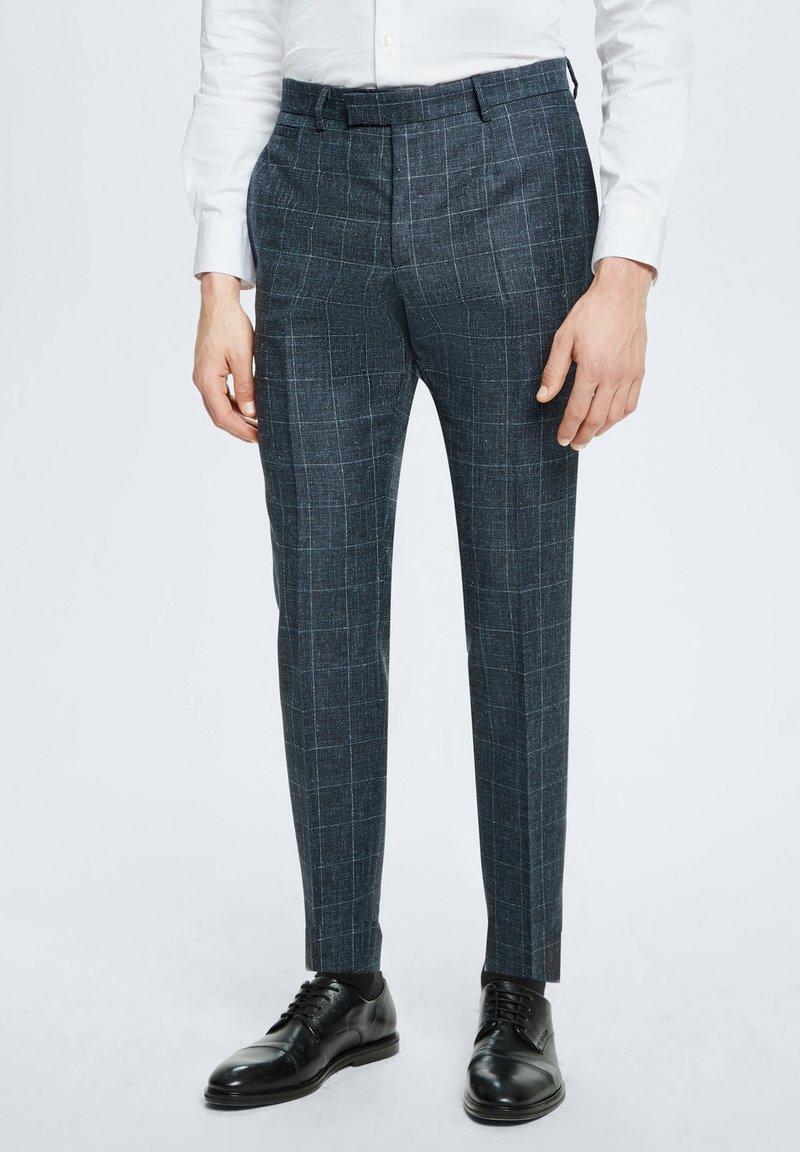 Strellson - ANZUG KYND - Trousers - dunkelblau kariert