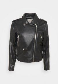 FQSANDY - Faux leather jacket - black