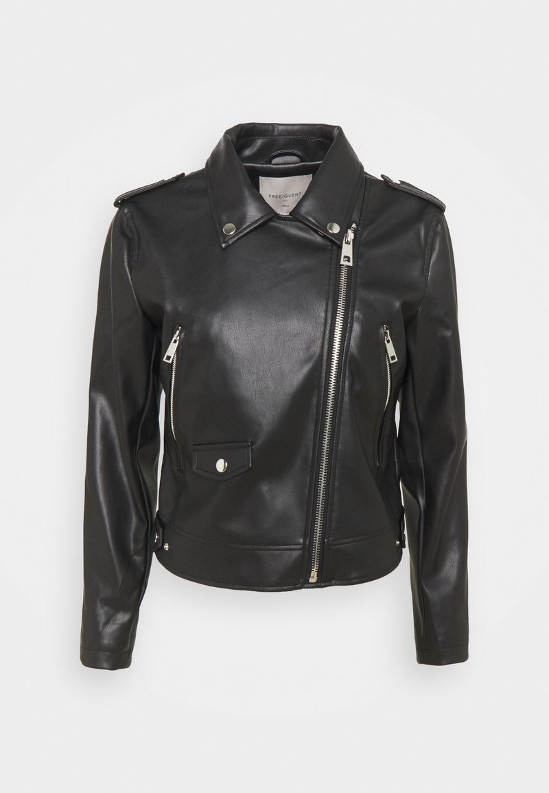 Freequent - FQSANDY - Faux leather jacket - black