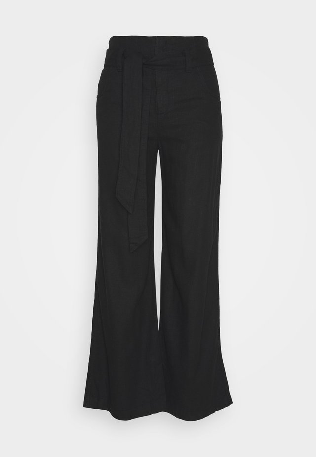 WIDE LEG SOLID - Pantalon classique - true black