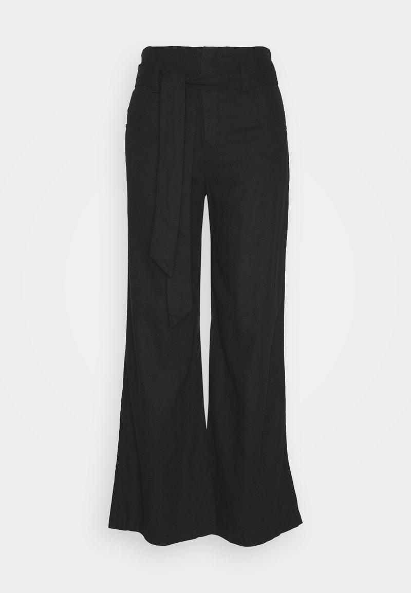 GAP - WIDE LEG SOLID - Pantaloni - true black