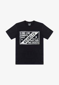 Wrangler - T-shirt med print - faded black - 4