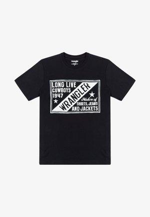 T-shirt med print - faded black