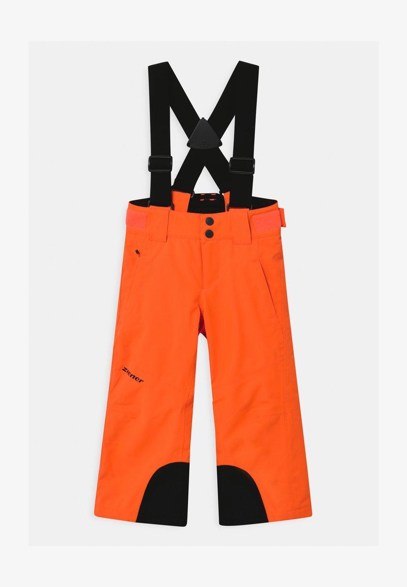 Ziener - ARISU UNISEX - Zimní kalhoty - neon orange