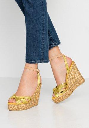 SOFIA - Sandály na vysokém podpatku - citron