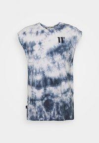 11 DEGREES - CUT OFF - Top - white/blue - 0
