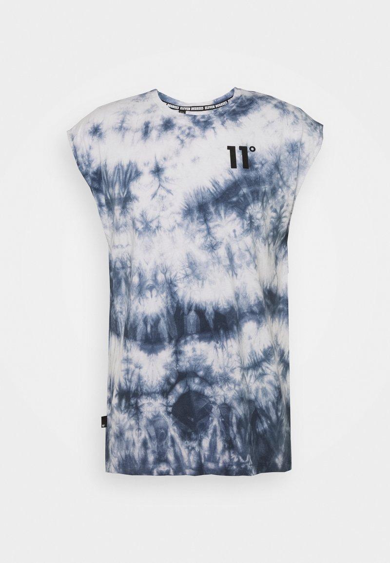 11 DEGREES - CUT OFF - Top - white/blue
