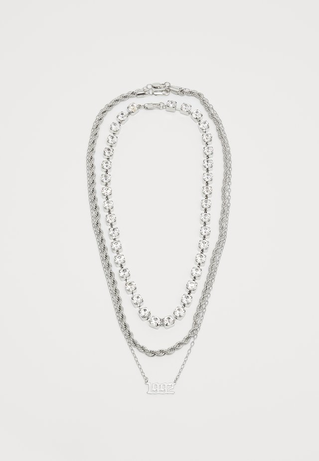 3 PACK - Necklace - silver-coloured