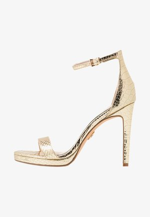 JANNA - Sandalen met hoge hak - gold