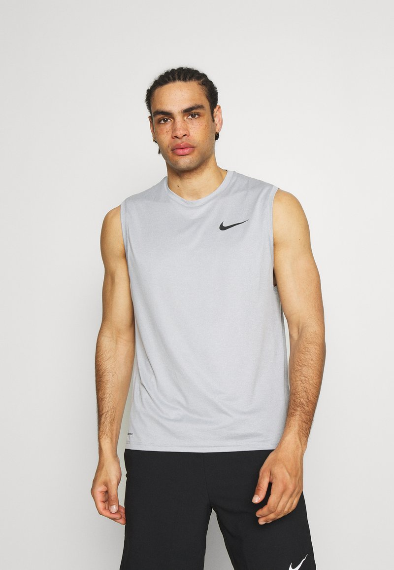 Nike Performance - DRY TANK - Linne - particle grey/grey fog/heather/black