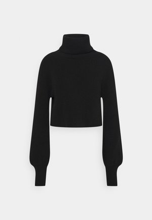 CROPPED TURTLENECK - Jumper - black