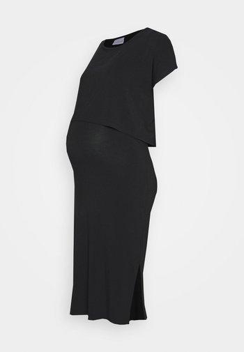 NURSING DRESS - Sukienka z dżerseju - black