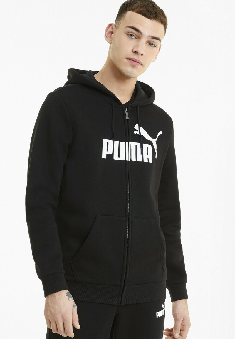 Puma - Zip-up hoodie -  black