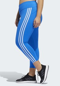 adidas Performance - BELIEVE THIS 3-STRIPES 7/8 LEGGINGS (PLUS SIZE) - Legging - blue - 3