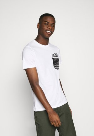 JJPOCKET LOGO TEE CREW NECK - T-shirt imprimé - white