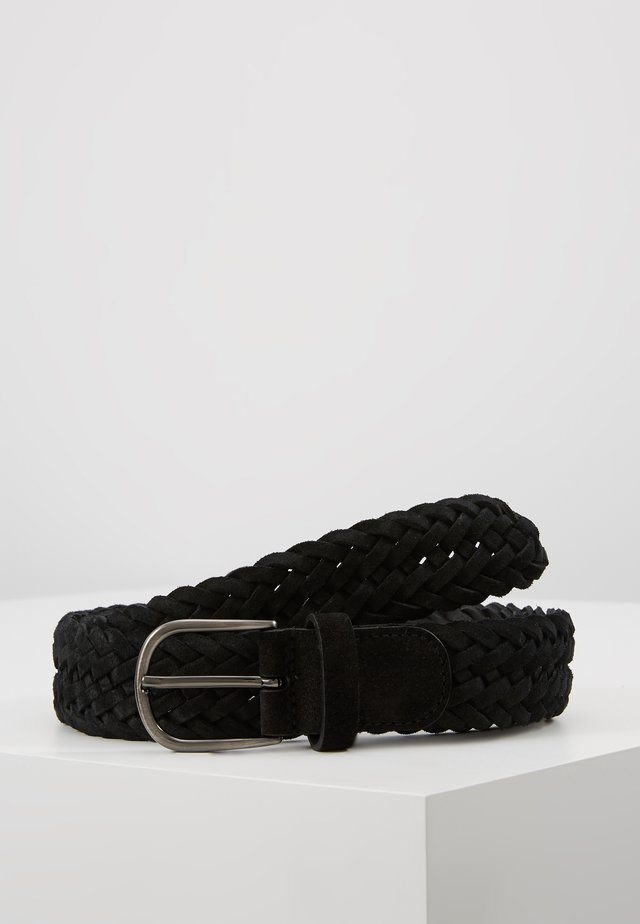 BELT - Palmikkovyö - black