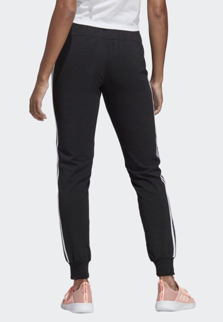 adidas Performance ESSENTIALS 3-STRIPES JOGGERS - Tracksuit bottoms - black JkL2Y