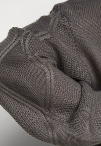 Missguided Plus - ROLL NECK CABLE SLEEVE JUMPER - Jumper - charcoal - 6