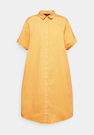 DRESS - Skjortekjole - yellow bright mango