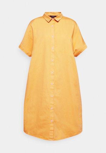 DRESS - Skjortekjole - yellow bright mango