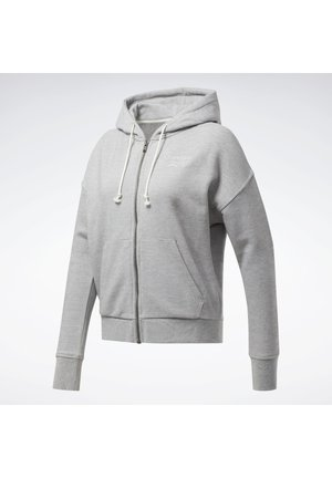 TRAINING ESSENTIALS LOGO - Sudadera con cremallera - grey