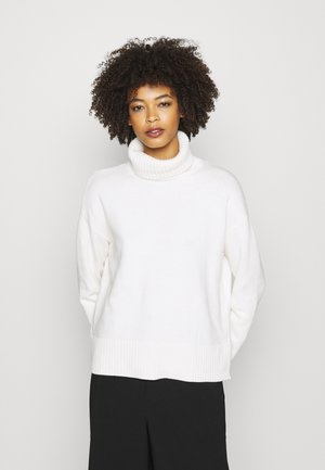 CROP OVERSIZED TNECK - Jumper - snowflake milk