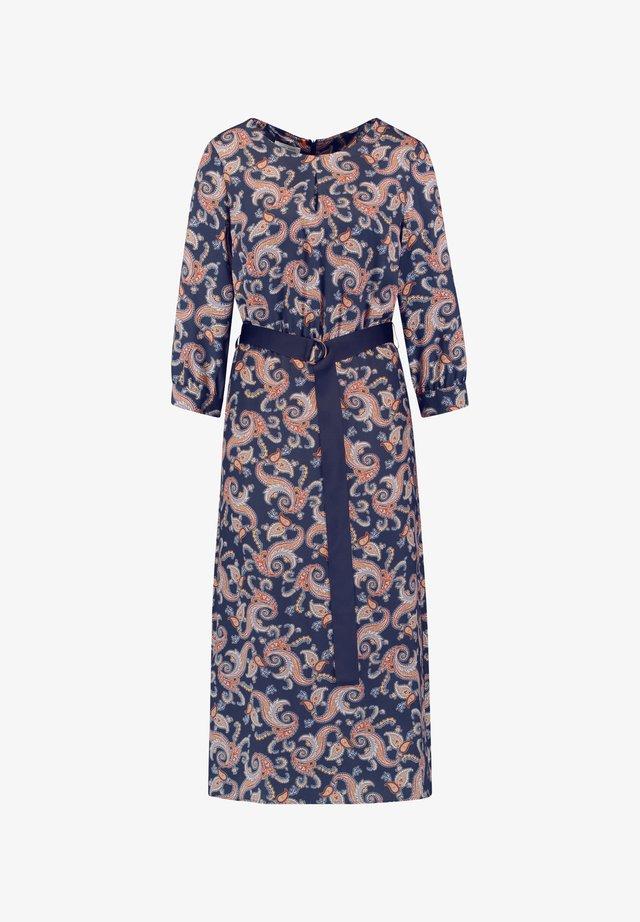 MIT PAISLEYPRINT - Robe longue - navy sienna druck