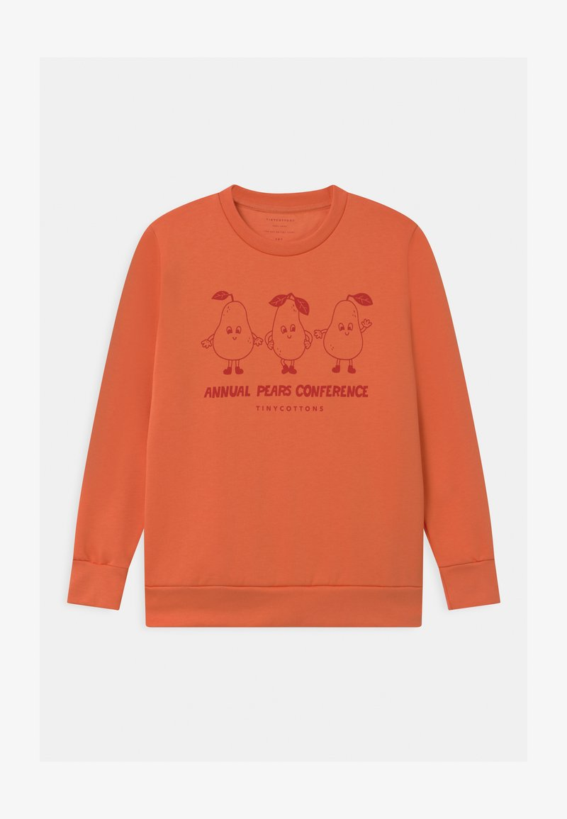 TINYCOTTONS - PEARS CONFERENCE UNISEX - Sweatshirt - peachy red/burgundy